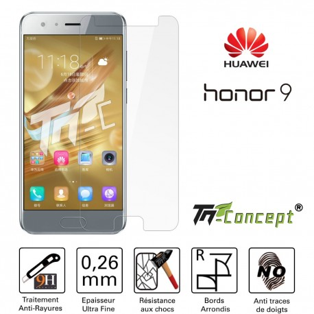 Huawei Honor 9 - Vitre de Protection Crystal - TM Concept®