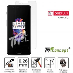 OnePlus 5 - Vitre de Protection Crystal - TM Concept®