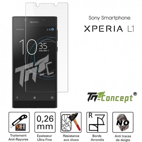 Sony Xperia L1 - Vitre de Protection Crystal - TM Concept®