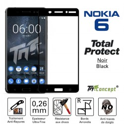 Nokia 6 - Vitre de Protection - Total Protect - TM Concept®