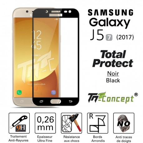 Samsung Galaxy J5 (2017) - Vitre de Protection - Total Protect - TM Concept®