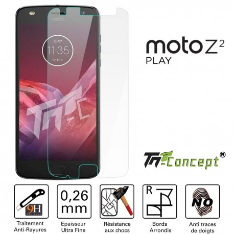 Motorola Moto Z2 Play - Vitre de Protection Crystal - TM Concept®