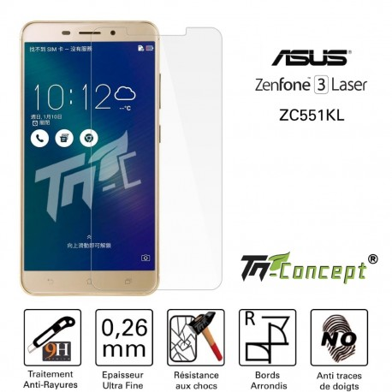 Asus Zenfone 3 Laser ZC551KL - Vitre de Protection Crystal - TM Concept®