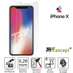 iPhone X - Vitre de Protection Crystal - TM Concept®