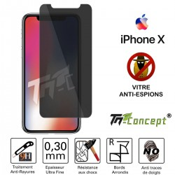iPhone X - Vitre de Protection Anti-Espions - TM Concept®