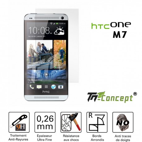 HTC One M7 - Vitre de Protection Crystal - TM Concept®