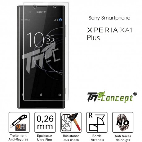 Sony Xperia XA1 Plus - Vitre de Protection Crystal - TM Concept®