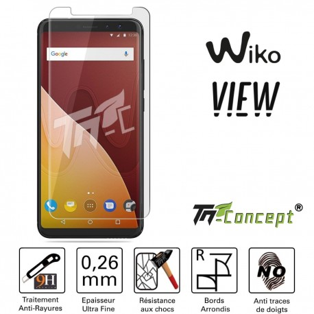 Wiko View - Vitre de Protection Crystal - TM Concept®