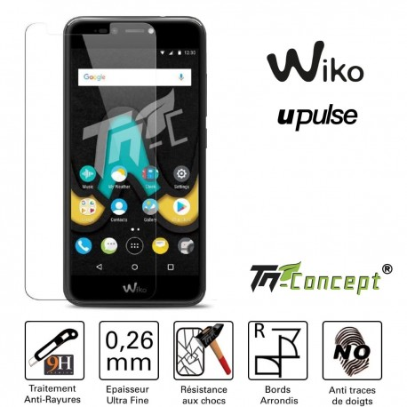 Wiko U Pulse - Vitre de Protection Crystal - TM Concept®