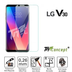 LG V30 - Vitre de Protection Crystal - TM Concept®