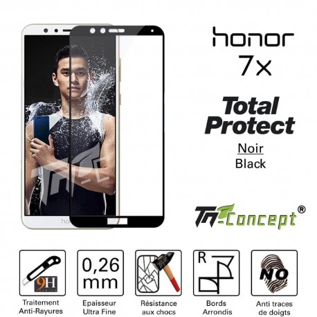 Huawei Honor 7X - Vitre de Protection - Total Protect - TM Concept®