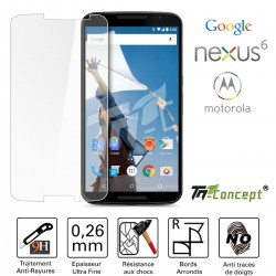 Motorola Google Nexus 6 - Vitre de Protection Crystal - TM Concept®