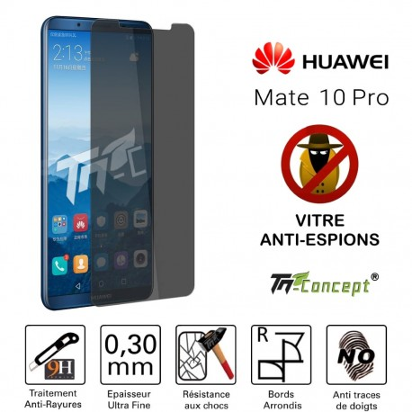 Huawei Mate 10 Pro - Vitre de Protection Anti-Espions - TM Concept®