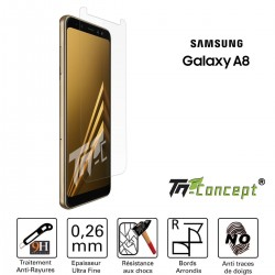 Samsung Galaxy A8 (2018) - Vitre de Protection Crystal - TM Concept®