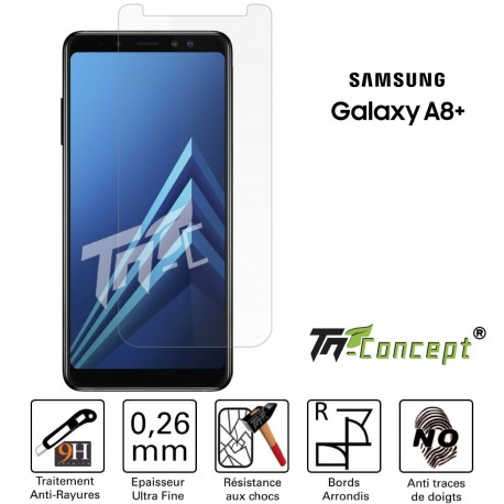 Samsung Galaxy A8+ (2018) - Vitre de Protection Crystal - TM Concept