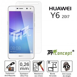 Huawei Y6 (2017) - Vitre de Protection Crystal - TM Concept®