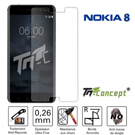 Nokia 8 - Vitre de Protection Crystal - TM Concept®
