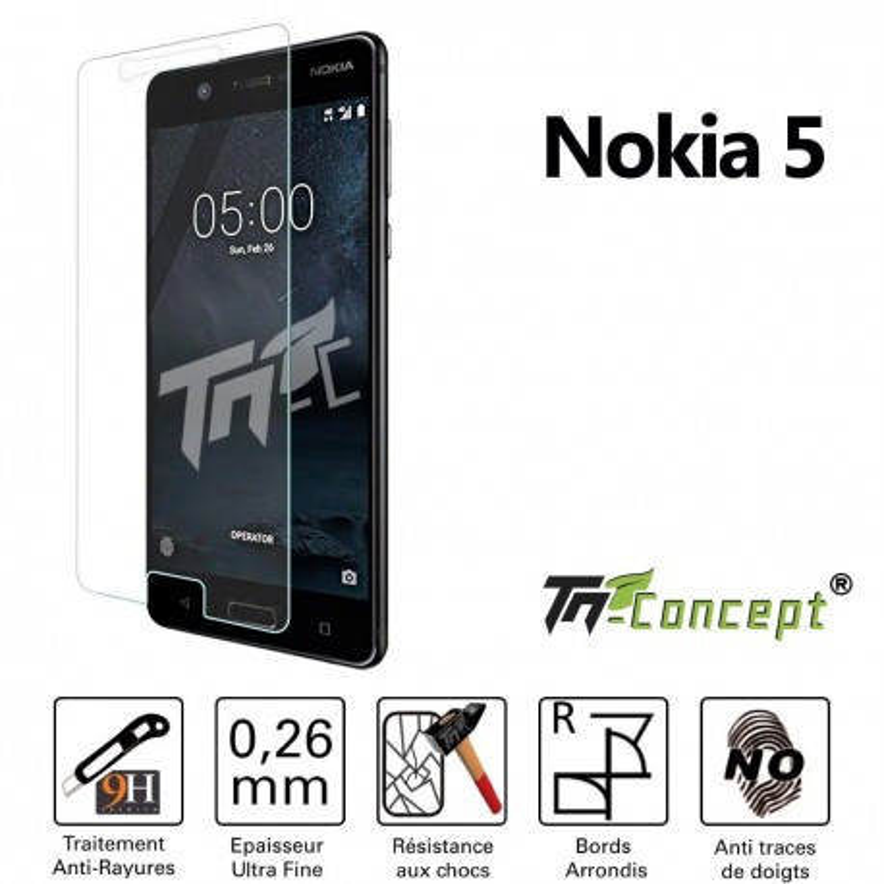 Nokia 5 - Vitre de Protection Crystal - TM Concept®