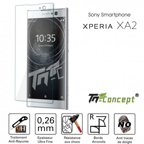 Sony Xperia XA2 - Vitre de Protection Crystal - TM Concept®