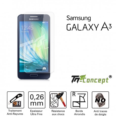 Samsung Galaxy A3 - Vitre de Protection Crystal - TM Concept®