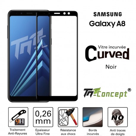 Samsung Galaxy A8 (2018) - Vitre de Protection 3D Curved - TM Concept®
