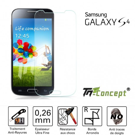 Samsung Galaxy S4 - Vitre de Protection Crystal - TM Concept®