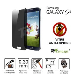 Samsung Galaxy S4 - Vitre de Protection Anti-Espions - TM Concept®