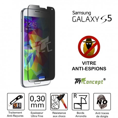 Samsung Galaxy S5 - Vitre de Protection Anti-Espions - TM Concept®