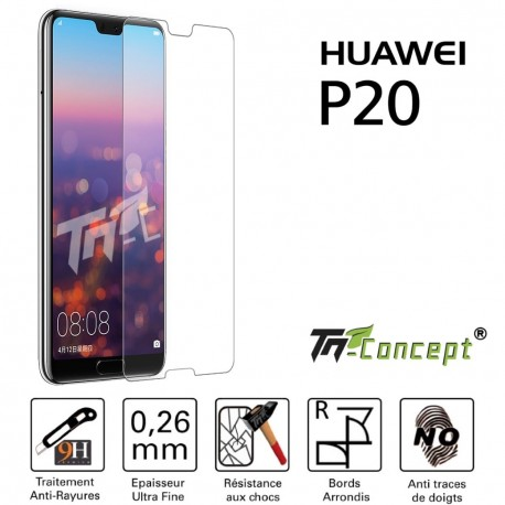 Huawei P20 - Vitre de Protection Crystal - TM Concept®