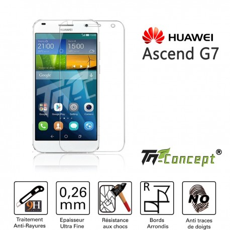 Huawei Ascend G7- Vitre de Protection Crystal - TM Concept®