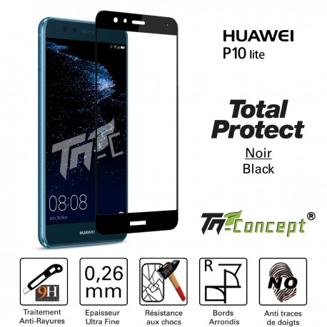 Huawei P10 Lite - Vitre de Protection - Total Protect - TM Concept®