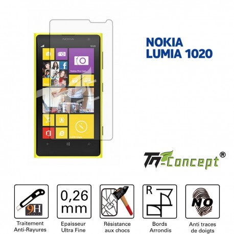 Nokia Lumia 1020- Vitre de Protection Crystal - TM Concept®