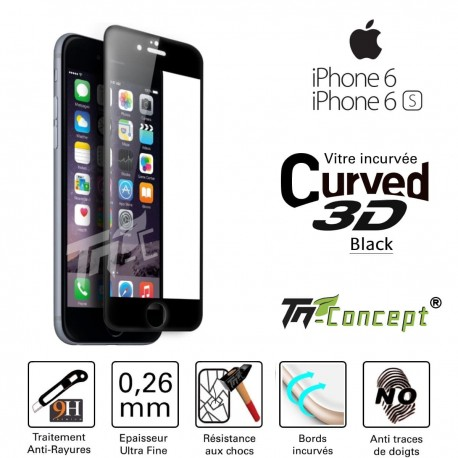 Apple Iphone 6/6S - Vitre de Protection 3D Curved - TM Concept®