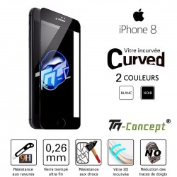 Apple iPhone 8 - Vitre de Protection 3D Curved - TM Concept®
