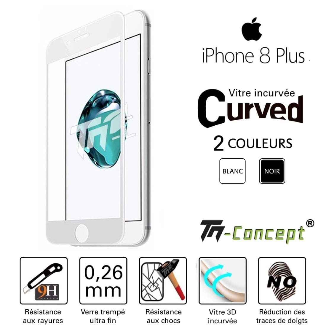 Tm Concept Apple iPhone 8 Plus Verre trempé intég