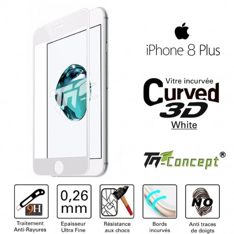 Apple iPhone 8 Plus - Vitre de Protection 3D Curved - TM Concept®