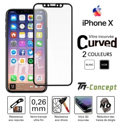 Apple iPhone X - Vitre de Protection 3D Curved - TM Concept®