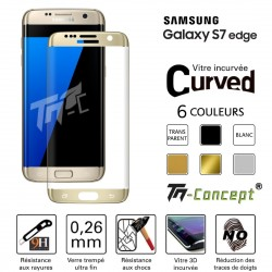 Samsung Galaxy S7 Edge - Vitre de Protection Curved - TM Concept®