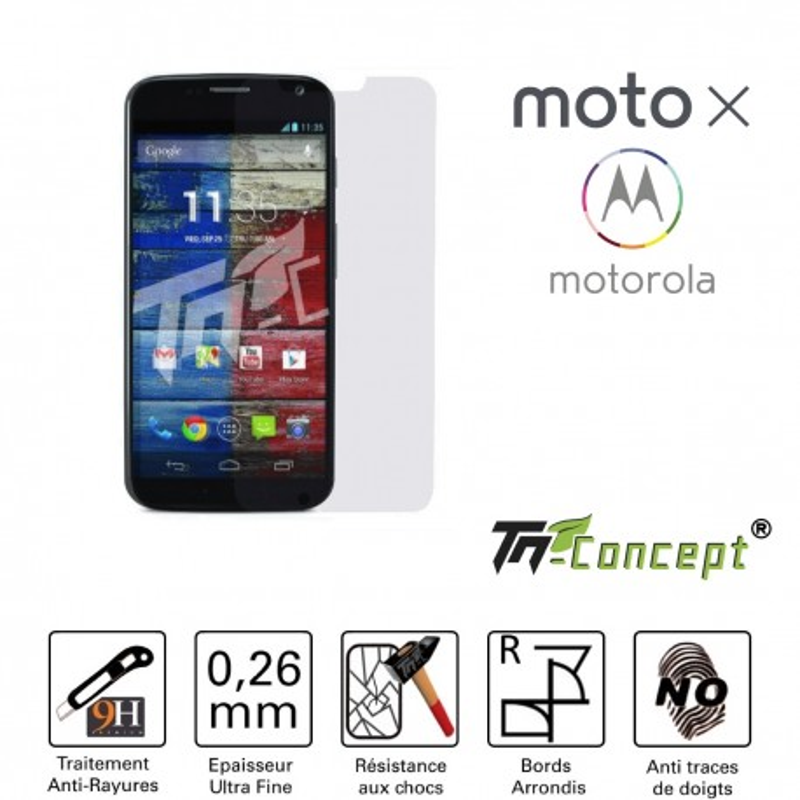 Motorola Moto X - Vitre de Protection Crystal - TM Concept®