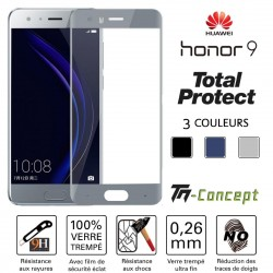 Huawei Honor 9 - Vitre de Protection - Total Protect - TM Concept®