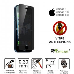Apple iPhone 5 / 5C / 5S / SE- Vitre de Protection Anti-Espions - TM Concept®
