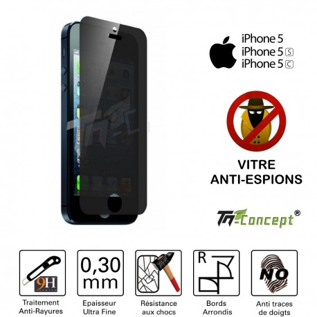 Apple Iphone 5 - Vitre de Protection Anti-Espions - TM Concept®