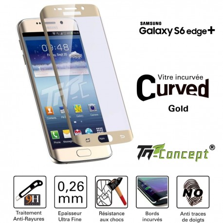 Samsung Galaxy S6 edge+ - Vitre de Protection Curved - TM Concept®