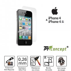 Apple iPhone 4 / 4S - Vitre de Protection Crystal - TM Concept®
