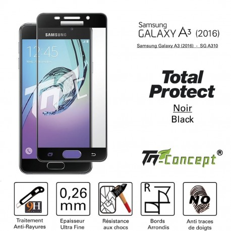 Samsung Galaxy A3 (2016) - Vitre de Protection - Total Protect - TM Concept®