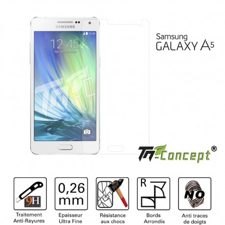Samsung Galaxy A5 - Vitre de Protection Crystal - TM Concept®