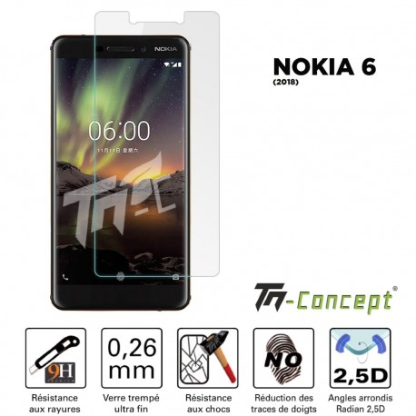 Nokia 6 (2018) - Vitre de Protection Crystal - TM Concept®