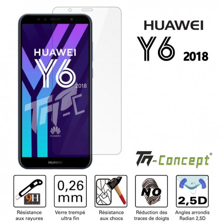 Huawei Y6 2018 - Vitre de Protection Crystal - TM Concept®