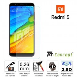 Xiaomi Redmi 5 - Vitre de Protection Crystal - TM Concept®