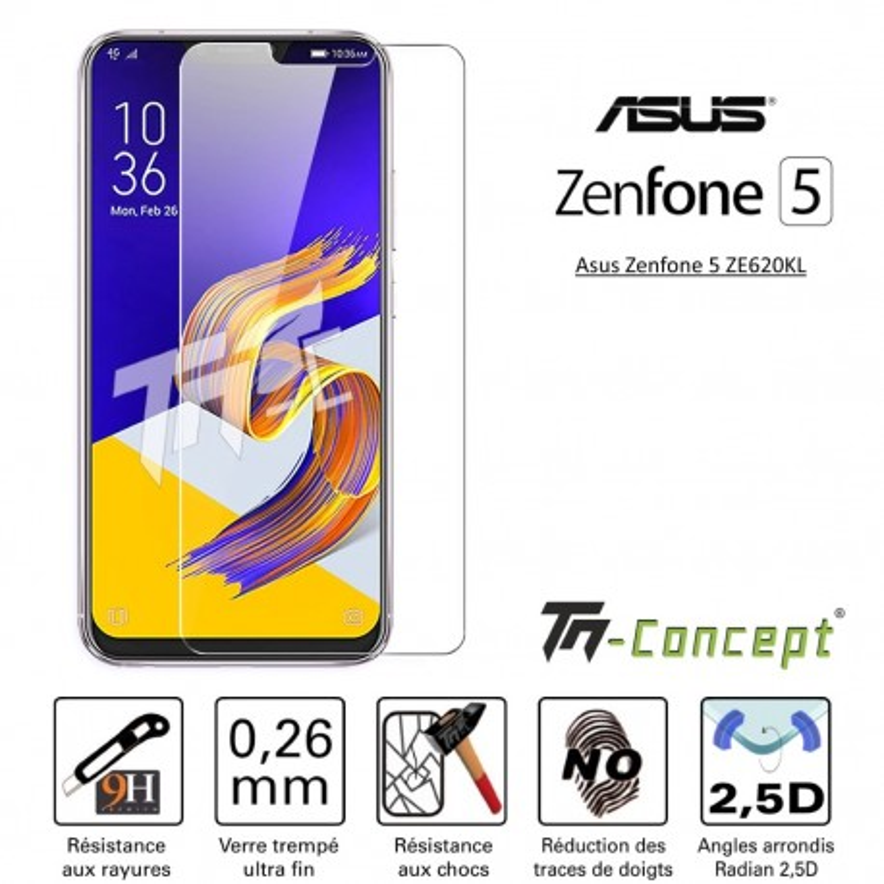 Asus Zenfone 5 ZE620KL - Vitre de Protection Crystal - TM Concept®
